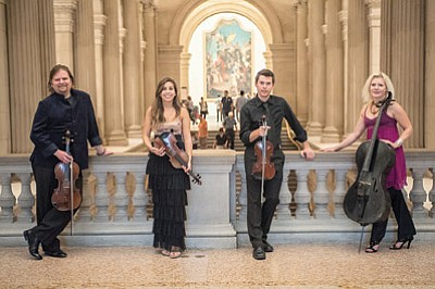On Aug. 29 and Aug 30 at 7:30 p.m. at Shrine of the Ages, ETHEL, America's premier post-classical string quartet, will take the stage for their tenth and final season as GCMF ensemble-in-residence.  Submitted photo<br /><br /><!-- 1upcrlf2 --><br /><br /><!-- 1upcrlf2 -->