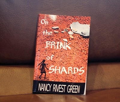 "Local author Nancy R. Green recently debuted her first pre-historic novel, ""On the Brink of Shards."" Loretta Yerian/WGCN"