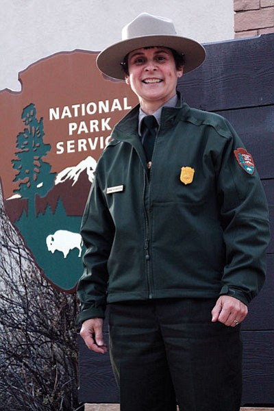 Chief of Interpretation at Grand Canyon National Park,  Donna Richardson works to develop year round interpretive programs and skilled Interpretive Rangers. Loretta Yerian/WGCN
