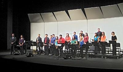 Grand Canyon School Jazz Band at the Northern Arizona University Jazz Festival, Feb. 26. Loretta Yerian/WGCN