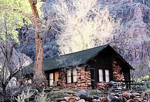 A stone cabin marking the entrance to the Bright Angel Campground and Phantom Ranch. Loretta Yerian/WGCN