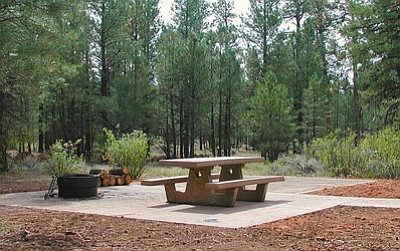 The Ten-X Campground is located two miles south of Tusayan and 47 miles north of Williams on U.S. Highway 180/AZ Highway 64. (fs.usda.gov photo)