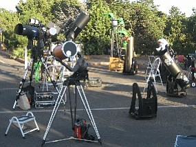 Telescopes ready for night sky viewing. (Photo by Marker Marshall/NPS)