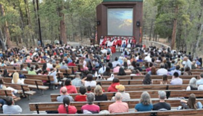 Commencement ceremony for Grand Canyon School seniors May 2015. NPS photo/Mike Quinn