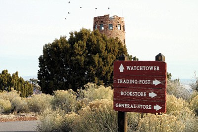 Grand Canyon National Park's Desert View Watchtower and overlook area. Loretta Yerian/WGCN