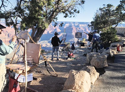 Artists at Hopi Point during the 2014 Celebration of Art. Photo/GCA