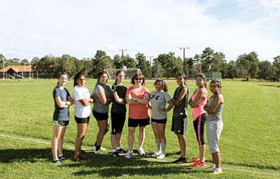 Grand Canyon School's Lady Phantoms prepare for their first season as an all girls soccer team. Photo/Gretchen Bilton