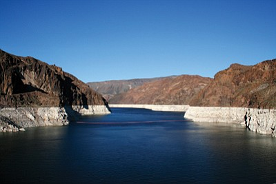 Officials said that heavy spring rains recharged Lake Mead to the point that they will not have to declare a water emergency next year. Photo courtesy U.S. Geological Survey
