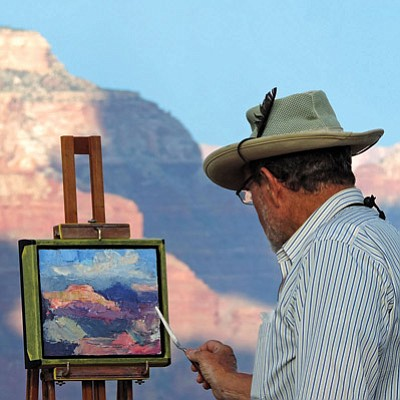 Grand Canyon Association's Celebration of Art on Grand Canyon's South Rim, Sept. 19. Photos/Michael Quinn,NPS