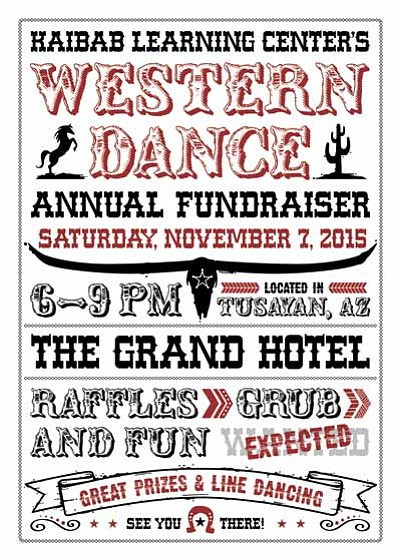 The Western Dance is one of the biggest fundraisers of the year for Kaibab Learning Center. Photo/Kaibab Learning Center