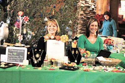 Lori Wisniewski and Laura Jones at the 2014 Christmas Craft Bazaar.Loretta Yerian/WGCN
