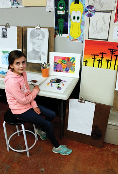 Ellie Pearce, a sixth grade student at Grand Canyon School, took third place in a county wide poster competition Nov. 13.  Loretta Yerian/WGCN