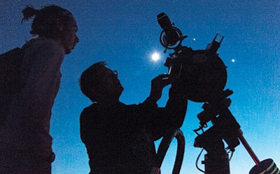 A star party held every year at Grand Canyon National Park allows visitors to view the night sky. Photo/NPS
