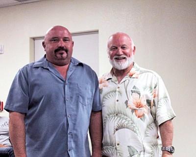 Councilman John Schoppmann earlier this year with former mayor Greg Bryan. Loretta Yerian/WGCN