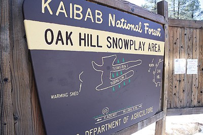Oak Hills Snow Play area is located east of Parks and provides sledding/snowtubing  opportunities for locals and tourists. Ryan Williams/WGCN