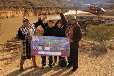 Jenny and Mike Kim were Grand Canyon West's one millionth visitor. Photo/Grand Canyon Resort Corporation