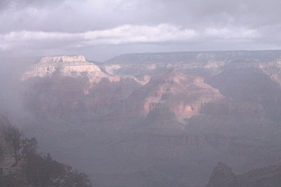 Several large winter storms are predicted for northern Arizona and the Grand Canyon area. Loretta Yerian/WGCN
