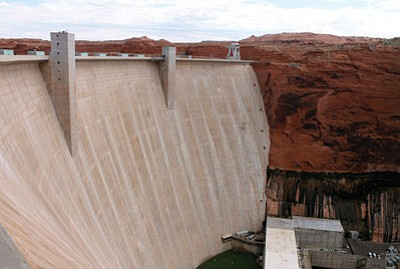 Glen Canyon Dam harnesses the power of the Colorado River in order to provide water and power to cities, industries and agriculture throughout the West. Loretta Yerian/WGCN