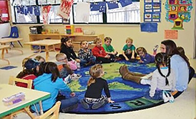 The Kaibab Learning Center provides child care for children from birth to 12 years old. Photo/Michelle Pahl