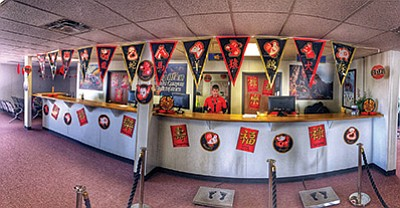 Grand Canyon Scenic Airlines and Papillon Helicopters are celebrating the Chinese New Year with festive decorations in the Grand Canyon West terminals. Photo courtesy of Papillon public relations
