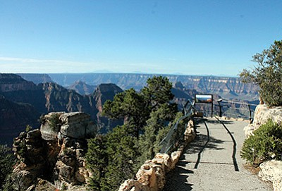 Bright Angel Point on Grand Canyon's North Rim. President Obama's FY17 budget request $13.4 billion for the Department of the Interior. Loretta Yerian/WGCN