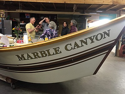 The Marble Canyon on display at the O.A.R.S. warehouse. Loretta Yerian/WGCN