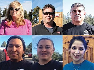 Clockwise from top left: Cecily Maniaci, Scott McClelland,Jaime Rivera, Lulu Araiza,Maria Ponyah and Eric Reid. Loretta Yerian/WGCN