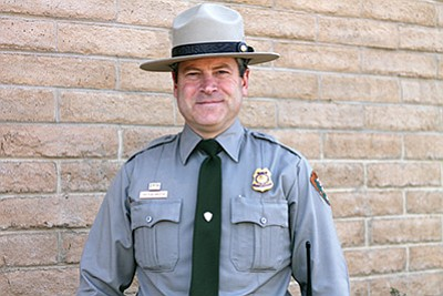Matthew Vandzura took over as chief ranger at Grand Canyon March 6. Loretta Yerian/WGCN