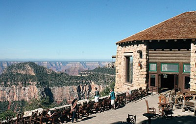 Reservations for the Grand Canyon Lodge on the North Rim of Grand Canyon National Park can now be booked for the 2016 season. Loretta Yerian/WGCN