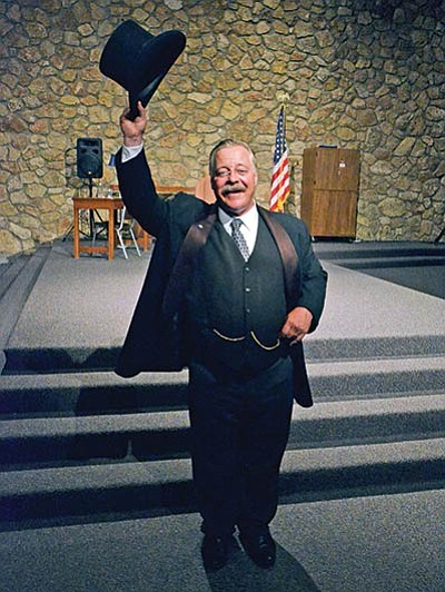 Renowned Theodore Roosevelt impersonator, Joe Wiegand, gave several special appearances for park visitors. Photo/Mike Quinn, NPS