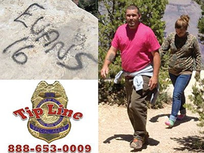 The National Park Service is asking for information concerning these individuals who are linked to a vandalism that  took place May 22. Photo/NPS