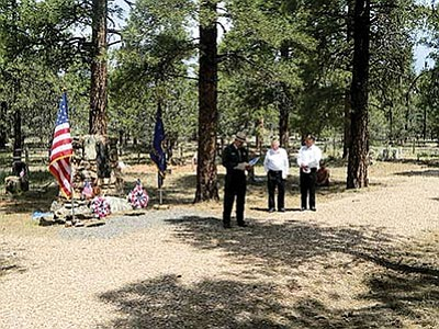 For Memorial Day, May 30, American Legion John Ivens Post No. 42 paid tribute to those who have and are currently serving in the United States armed forces during an annual ceremony at the Grand Canyon Pioneer Cemetery.