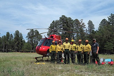 The Grand Canyon Helitack Crew at the Jack Fire outside of Flagstaff. Loretta Yerian/WGCN