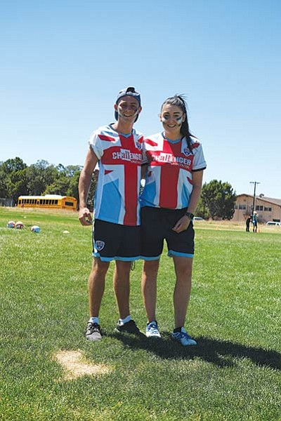 Jack Murphy, 19, and Danielle Westernman, 26, have coached soccer camps for the last two and three years in the U.S. Loretta Yerian/WGCN