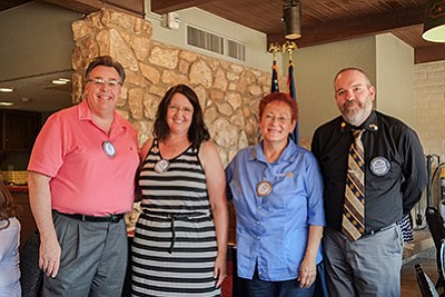 Rotary on the Rim's incoming officers for the new Rotary year Marty Harris, Julie Aldaz, Yvonne Trujillo and Rob Gossard. Loretta Yerian/WGCN