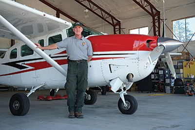 Grand Canyon National Park has one fixed wing plane and one pilot. In May, Galen Howell, the park's fixed wing pilot, flew to St. Paul, Minnesota to pick up a new plane for the park.  Loretta Yerian/WGCN
