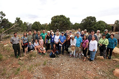 Family members, National Park Service and members of the Grand Canyon Historical Society gather at Desert View in Grand Canyon to remember the 128 victims of the June 30, 1956 plane crash that happened over the Grand Canyon. Photo/Wayne Ranney