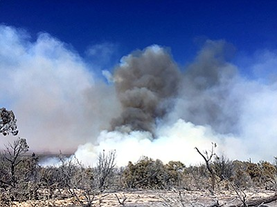 The 1,502-acre Wildcat Fire on the North Kaibab Ranger District of the Kaibab National Forest was suppressed June 21. The Fuller Fire has burned around 250 acres on the North Rim. Photo/KNF, USFS