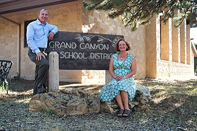 Grand Canyon School heads into 2016 -2017 school year with Matt Yost as assistant to the superintendent and Lori Rommel as assistant principal. Loretta Yerian/WGCN