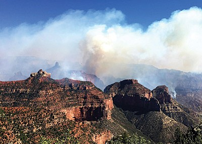 In July, a temporary flight restriction (TFR) was put in place for airspace surrounding the Fuller Fire on the North Rim of Grand Canyon. TFR's restrict aircraft  operations  within  designated areas in order to protect aerial firefighting operations. Photo/NPS