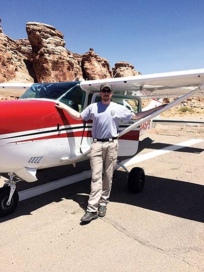 Walker Gusse,a National Park Service pilot from Alaska spent one week training with Grand Canyon National Park fixed wing pilot, Galen Howell. Submitted photo