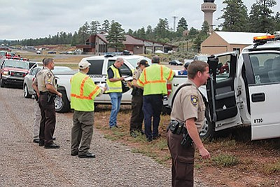 Emergency responders from different agencies participate in the triennial disaster drill. Photo/Courtesy of ADOT