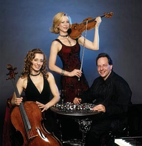 The Trio Solisti – cellist Alexis Pia Gerlach, violinist Maria Bachmann and pianist Jon Klibonoff – will open the Grand Canyon Music Festival with performances this Saturday and Sunday at 7:30 p.m. at the Shrine of the Ages.