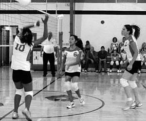 Varsity girls play Rock Point on Saturday.