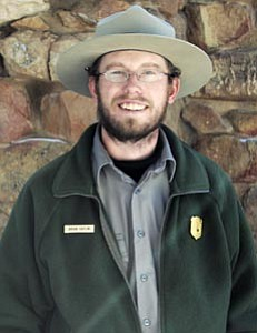 Brian Gatlin was chosen as the park's Interpreter of the Year. Recipients are selected by their peers.