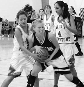 Chelsea Curtis and Marissa Timeche play in last Friday's game against Williams
