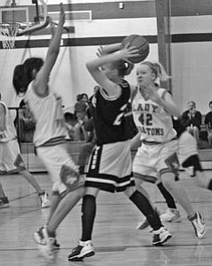 JV girls play a recent game with Williams.