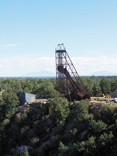 The Orphan Mine headframe is the most visible remnant of the mining industry's presence on the South Rim.