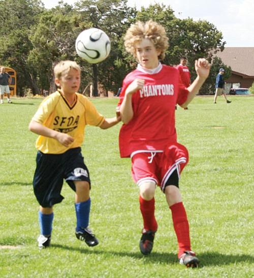 Ethan Berry in last weekend's Middle School soccer game against St. Mary's.