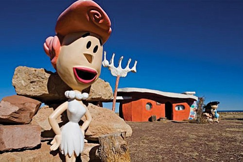 A view at Bedrock City on State Route 64 in Valle.